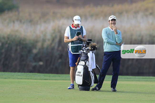 Jorge Campillo (ESP) on the 14th hole during Thursday's Round 1 of the 2016 Portugal Masters held at the Oceanico Victoria Golf Course, Vilamoura, Algarve, Portugal. 19th October 2016.<br /> Picture: Eoin Clarke | Golffile<br /> <br /> <br /> All photos usage must carry mandatory copyright credit (&copy; Golffile | Eoin Clarke)
