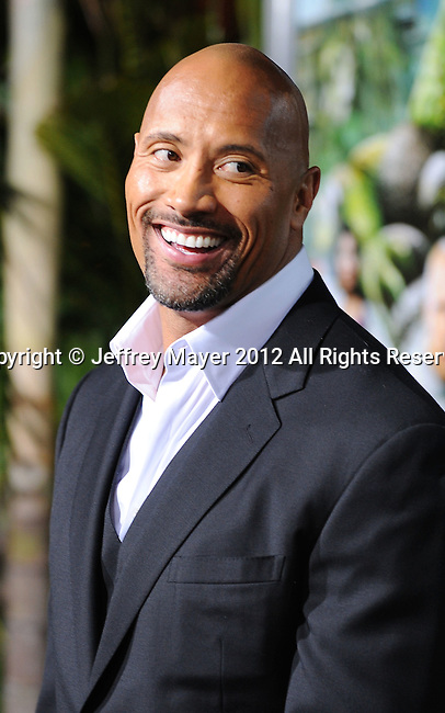 HOLLYWOOD, CA - FEBRUARY 02: Dwayne Johnson attends 'Journey 2: The Mysterious Island' Los Angeles Premiere at Grauman's Chinese Theatre on February 2, 2012 in Hollywood, California.
