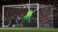 Bournemouth's Asmir Begovic makes a save from a Manchester United free kick<br /> <br /> Photographer David Horton/CameraSport<br /> <br /> The Premier League - Bournemouth v Manchester United - Saturday 3rd November 2018 - Vitality Stadium - Bournemouth<br /> <br /> World Copyright &copy; 2018 CameraSport. All rights reserved. 43 Linden Ave. Countesthorpe. Leicester. England. LE8 5PG - Tel: +44 (0) 116 277 4147 - admin@camerasport.com - www.camerasport.com