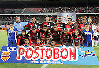 CÚCUTA -COLOMBIA, 21-08-2013. Jugadores del Cúcuta posan para los fotógrafos antes del partido contra Junior válido por la fecha 5 de la Liga Postobon II disputado en el estadio General Santander de la ciudad de Cucuta./ Players of Cucuta pose to the photographers befores the match against Junior valid for the fifth date of the Postobon League II at the General Santander Stadium in Cucuta city. Photo: VizzorImage/Manuel Hernandez/STR