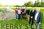 At the Development of the Tralee Harriers Field on Tuesday were front l-r Louis Byrne, Spar Oakpark, Martin Fitzgerald Chairman of Tralee Harriers, Back l-r Mary Fitzmaurice, Tralee Harriers, Grace Creedon, Tralee Harriers, Sergeant  Eoin Donovan, Tralee Garda Station, Martin O'Sullivan, Tralee Marathon Director, Sean O'Mahony, Tralee Harriers,  Brendan Kennelly, Marketing Manager, Kerry's Eye, launching the Tralee Marathon