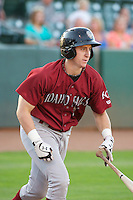 Frank Schwindel (18) of the Idaho Falls Chukars in action against the Ogden Raptors at Lindquist Field on September 5, 2013 in Ogden Utah.  (Stephen Smith/Four Seam Images)