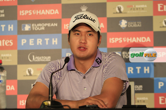 Sihwan Kim (KOR) is in 2nd place over night after Round 3 of the ISPS HANDA Perth International at the Lake Karrinyup Country Club on Saturday 25th October 2014.<br /> Picture:  Thos Caffrey / www.golffile.ie