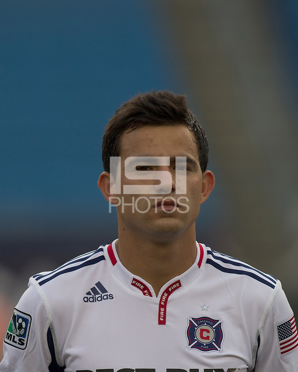 Chicago Fire midfielder Marco Pappa (16). The Chicago Fire defeated the New England Revolution, 1-0, at Gillette Stadium on June 27, 2010.