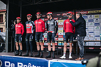 Team Lotto Soudal riders pre race <br /> <br /> GP Monseré 2020<br /> One Day Race: Hooglede – Roeselare 196.8km. (UCI 1.1)<br /> Bingoal Cycling Cup 2020