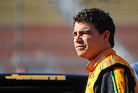 Nov. 13, 2009; Avondale, AZ, USA; NASCAR Camping World Truck Series driver Jason White during qualifying prior to the Lucas Oil 150 at Phoenix International Raceway. Mandatory Credit: Mark J. Rebilas-
