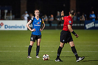 Kansas City, MO - Saturday June 17, 2017: Becky Sauerbrunn, Farhad Dadkho during a regular season National Women's Soccer League (NWSL) match between FC Kansas City and the Seattle Reign FC at Children's Mercy Victory Field.