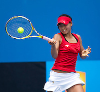 Risa Ozaki (JPN) against Karolina Pliskova (CZE) (6) in the third round Junior Girls Singles. Pilskova beat Ozaki 6-4 6-2..International Tennis - Australian Open Tennis -  Wednesday 27th  Jan 2010 - Melbourne Park - Melbourne - Australia ..© Frey - AMN Images, 1st Floor, Barry House, 20-22 Worple Road, London, SW19 4DH.Tel - +44 20 8947 0100.mfrey@advantagemedianet.com