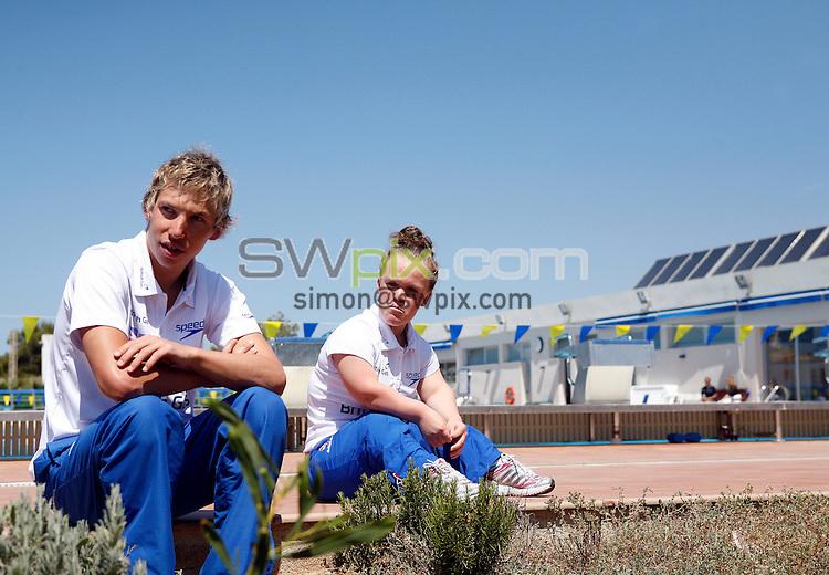 PICTURE BY VAUGHN RIDLEY/SWPIX.COM - Disability Swimming - Warm Weather Training Camp - Best Swim Centre, Colonia Sant Jordi, Mallorca, Spain - 23/05/12 - Jonathan Fox and Ellie Simmonds.