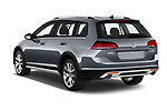 Car pictures of rear three quarter view of a 2018 Volkswagen Golf Alltrack TSI SEL 4Motion DSG 5 Door Wagon angular rear
