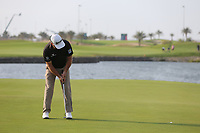 Graeme McDowell (NIR) on the 18th green during the final round of  the Saudi International powered by Softbank Investment Advisers, Royal Greens G&CC, King Abdullah Economic City,  Saudi Arabia. 02/02/2020<br /> Picture: Golffile | Fran Caffrey<br /> <br /> <br /> All photo usage must carry mandatory copyright credit (© Golffile | Fran Caffrey)