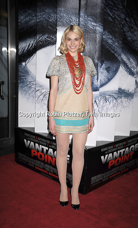 "Jennifer Missoni in Missoni dress.arriving at The World Ptemiere of ""Vantage Point"" .on February 20, 2008 at The AMC Lincoln Square Theatre in New York City. The movie stars Dennis Quaid, Matthew Fox, Forest Whitaker, Sigourney Weaver and Zoe Saldana. ..Robin Platzer, Twin Images..212-935-0770"