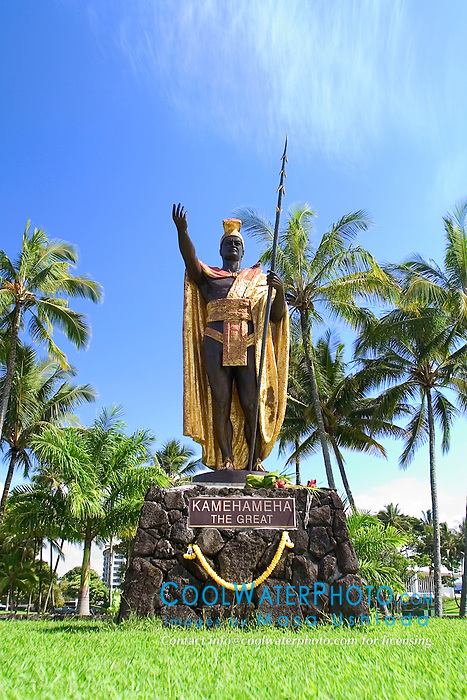 statue of King Kamehameha the Great, Hilo, Big Island, Hawaii