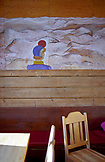 SWEDEN, Swedish Lapland, Interior of a Mountain Lodge