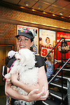 "Guiding Light's Allison Janney at Broadway Barks 11 - a ""Pawpular"" star-studded dog and cat adopt-a-thon on July 11, 2009 in Shubert Alley, New York City, NY. (Photo by Sue Coflin/Max Photos)"