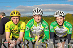 Brendan O'Sullivan, Patrick O'Connor and Michael Concannon Killorglin who competed at the County Cycling Championships in Cordal on Saturday.