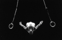 Pix:Michael Steele/SWpix...Gymnastics, World Student Games, Sheffield, 1991...COPYRIGHT PICTURE>>SIMON WILKINSON..Gymnastics, World Student Games, Sheffield.