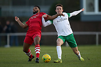 Rickie Hayles of Hornchurch and Dan Smith of Bognor during Hornchurch vs Bognor Regis Town, BetVictor League Premier Division Football at Hornchurch Stadium on 30th November 2019