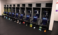 Orlando, FL - Saturday October 14, 2017:  North Carolina Courage locker room during the NWSL Championship match between the North Carolina Courage and the Portland Thorns FC at Orlando City Stadium.