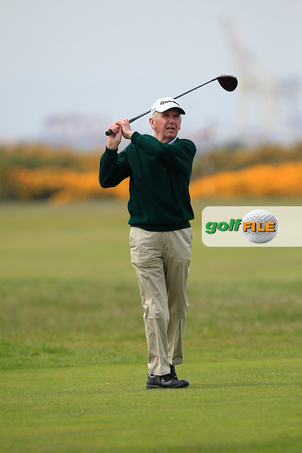 Albert Lee (Hon. Sec. Golfing Union of Ireland) on the 3rd tee during the Flogas Irish Amateur Open Championship Am-Am at Royal Dublin on Monday 9th May 2016.<br /> Picture:  Thos Caffrey / www.golffile.ie