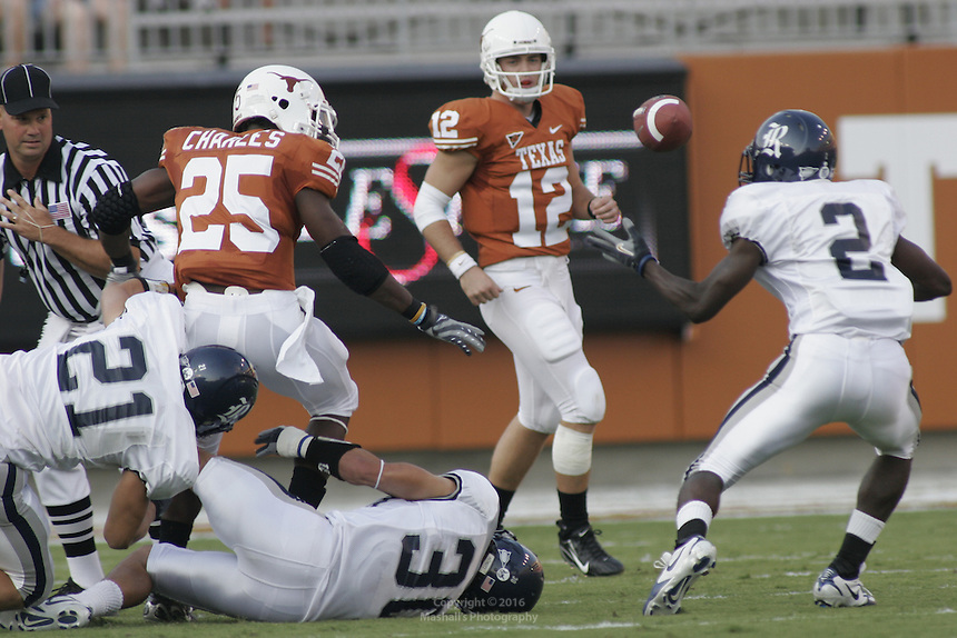 Turnover on Texas's Fist possession<br /> <br /> Marshall Robinson/ Marshall's Photography