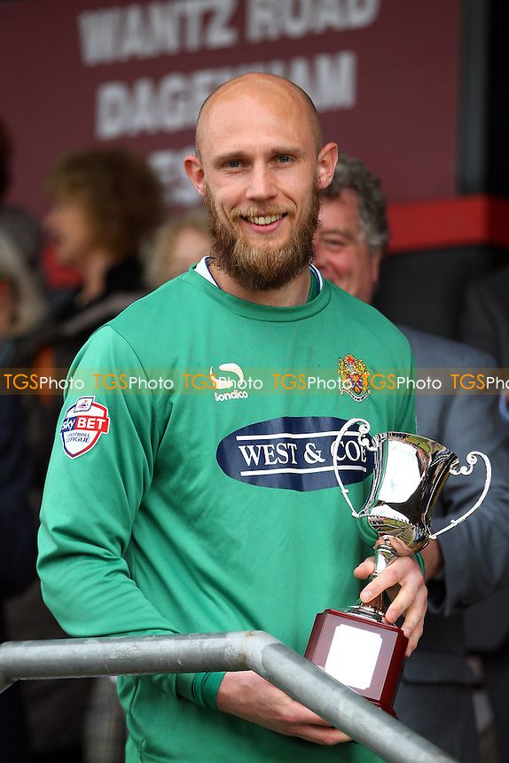 Mark Cousins finished in second place in the Daggers player of the year award - Dagenham and Redbridge vs Accrington Stanley - Sky Bet League Two action at the London Borough of Barking and Dagenham Stadium on 25/04/15 - MANDATORY CREDIT: Dave Simpson/TGSPHOTO - Self billing applies where appropriate - 0845 094 6026 - contact@tgsphoto.co.uk - NO UNPAID USE
