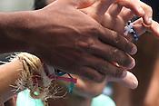 C&iacute;rio de Nazar&eacute;, considerada a maior prociss&atilde;o religiosa do Brasil. Milhares de promesseiros e devotos acompanham a prociss&atilde;o ultrapassando 1 milh&atilde;o de pessoas.<br /> Bel&eacute;m, Par&aacute;, Brasil<br /> Foto Ney Marcondes / Acervo H<br /> 09/10/2016 <br /> <br /> Roman Catholic pilgrims press together while following the image of the local saint Our Lady of Nazareth as it is paraded during the annual Cirio de Nazare procession, the country&rsquo;s biggest religious festival, in the city of Belem, at the mouth of the Amazon River. More than one million Catholics, many of them from communities along the Amazon River&rsquo;s tributaries, converged on Our Lady of Nazareth basilica to participate in the event. <br /> Bel&eacute;m, Par&aacute;, Brazil.<br /> Foto Ney Marcondes / Acervo H<br /> 09/10/2016