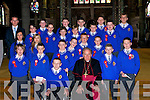 Pupils of Sea?n Moynihan who were Confirmed on Friday in St John's Church, Tralee by Bishop of Kerry Bill Murphy. .
