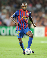 FUSSBALL   CHAMPIONS LEAGUE   SAISON 2011/2012   GRUPPE  H 13.09.2011 FC Barcelona - AC Mailand  Eric Abidal  (Barca)
