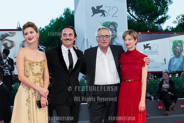Lidiya Liberman, Pier Giorgio Bellocchio, Marco Bellocchio &amp; Alba Rohrwacher,  at the premiere of Blood Of My Blood at the 2015 Venice Film Festival.<br /> September 8, 2015  Venice, Italy<br /> Picture: Kristina Afanasyeva / Featureflash