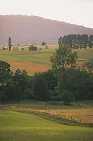 Europe/France/Alsace/67/Bas-Rhin/Env d'Ernolsheim/Les Saverne: Paysage du Parc Régional des Vosges du Nord dans la lumière du soir