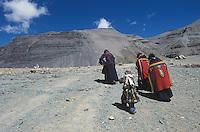 Tibetan pilgrims at Mt. Kailash for Saga Dawa, Buddha's birthday.
