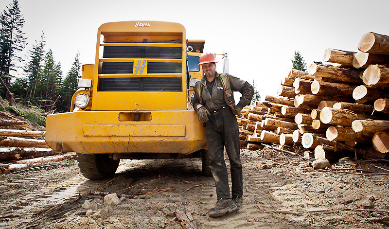 "Like a number of individuals in the forest industry, Tom Masters (Supervisor/Foreman) has a family history in the industry. Also like many with years in the industry, he is a ""Jack of all trades""  contract supervisor, log truck driver, mechanic, among other things."