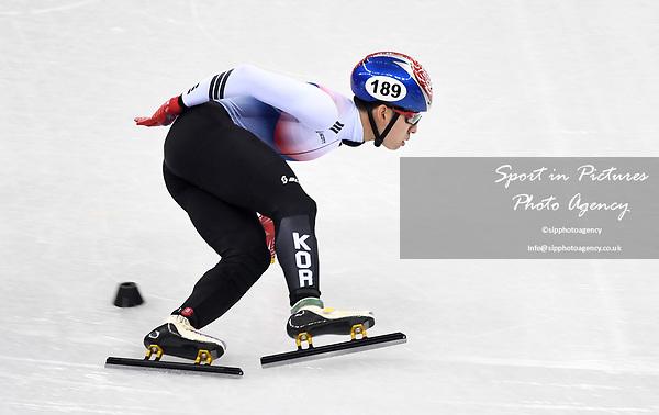 Hyojun Lim (KOR). Short track. Gangneung ice arena. Pyeongchang2018 winter Olympics. Gangneung. Republic of Korea. 10/02/2018. ~ MANDATORY CREDIT Garry Bowden/SIPPA - NO UNAUTHORISED USE - +44 7837 394578