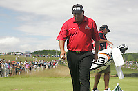 Angel Cabrera steps out the yardage on the par3 16th tee during the 3rd round of the 2008 Open de France Alstom at Golf National, Paris, France June 28th 2008 (Photo by Eoin Clarke/GOLFFILE)