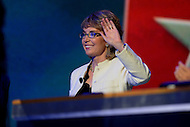 September 6, 2012  (Washington, DC)  Former U.S. Representative Gabrielle 'Gabby' Giffords makes a surprise appearance at the 2012 Democratic National Convention in Charlotte, North Carolina.  (Photo by Don Baxter/Media Images International)