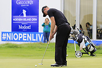 Scott Henry (SCO) putts on the 18th green during Sunday's Final Round of the Northern Ireland Open 2018 presented by Modest Golf held at Galgorm Castle Golf Club, Ballymena, Northern Ireland. 19th August 2018.<br /> Picture: Eoin Clarke | Golffile<br /> <br /> <br /> All photos usage must carry mandatory copyright credit (&copy; Golffile | Eoin Clarke)
