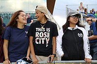 Cary, NC - Saturday April 22, 2017: Portland fans prior to a regular season National Women's Soccer League (NWSL) match between the North Carolina Courage and the Portland Thorns FC at Sahlen's Stadium at WakeMed Soccer Park.