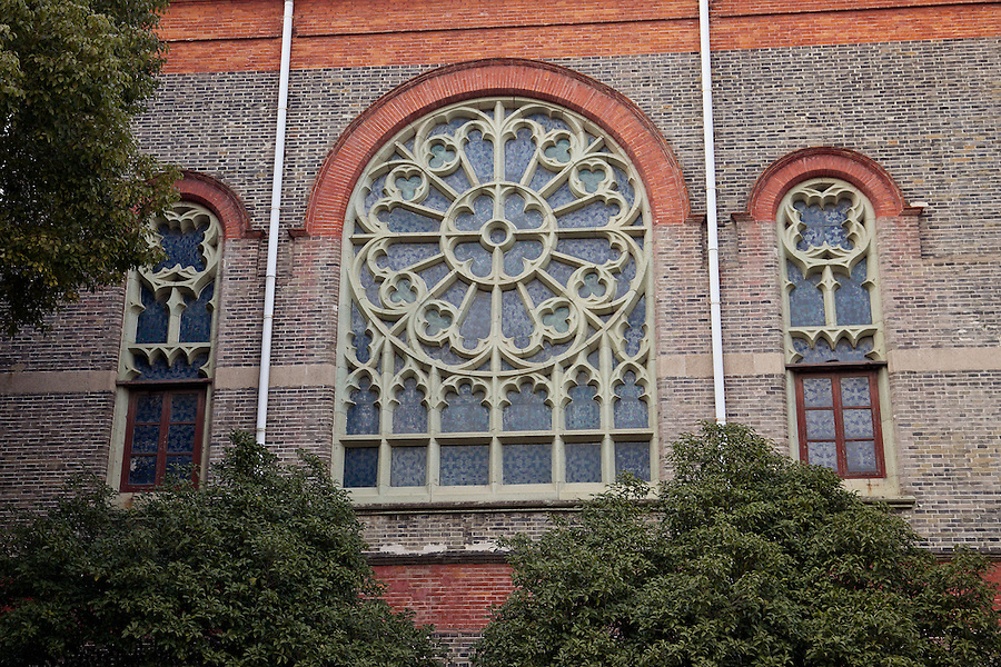 Detail Of The Magnificent Window On The 'Belfry Building', Soochow University Campus.