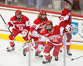 Natasza Tarnowski (BU - 13), Savannah Newton (BU - 28), Sammy Davis (BU - 16), Alexis Crossley (BU - 25) - The Boston College Eagles defeated the visiting Boston University Terriers 5-3 (EN) on Friday, November 4, 2016, at Kelley Rink in Conte Forum in Chestnut Hill, Massachusetts.The Boston College Eagles defeated the visiting Boston University Terriers 5-3 (EN) on Friday, November 4, 2016, at Kelley Rink in Conte Forum in Chestnut Hill, Massachusetts.