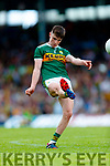 Seán O'Shea Kerry in action against  Clare during the Munster GAA Football Senior Championship semi-final match between Kerry and Clare at Fitzgerald Stadium in Killarney on Sunday.