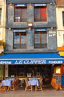 Harbour side restauarant - The Clipper. Honfleur, Normandy, France.