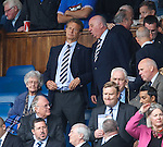 Rangers new chairman Alastair Johnston with John McLelland in the directors box at Ibrox