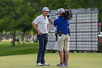 Justin Rose (GBR) is interviewed immediately after winning the Fort Worth Invitational, The Colonial, at Fort Worth, Texas, USA. 5/27/2018.<br /> Picture: Golffile | Ken Murray<br /> <br /> All photo usage must carry mandatory copyright credit (© Golffile | Ken Murray)