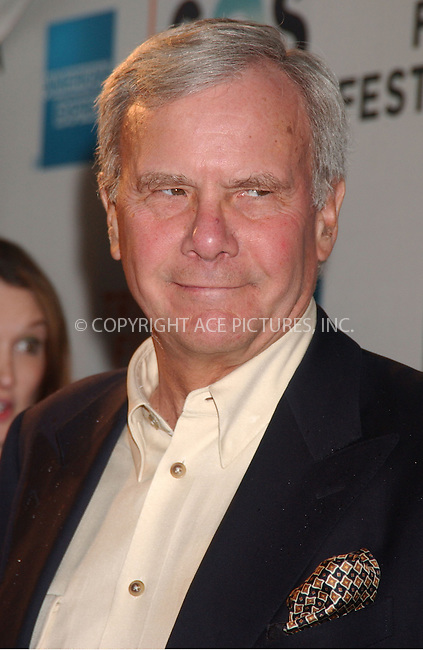"WWW.ACEPIXS.COM . . . . .....April 25 2007, New York City....Former NBC Nightly News anchor Tom Brokaw arriving at the opening night premiere of ""SOS"" at the 2007 Tribeca Film Festival in downtown Manhattan.....Please byline: Kristin Callahan - ACEPIXS.COM..... *** ***..Ace Pictures, Inc:  ..Philip Vaughan (646) 769 0430..e-mail: info@acepixs.com..web: http://www.acepixs.com"