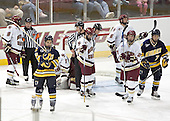 Brett Motherwell, Derek Pallardy, Cory Schneider, Joe Rooney, Tim Kunes, Benn Ferreiro, Matt Byrnes - Boston College defeated Merrimack College 3-0 with Tim Filangieri's first two collegiate goals on November 26, 2005 at Kelley Rink/Conte Forum in Chestnut Hill, MA.