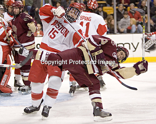 John McCarthy, Pat Gannon - Boston University defeated Boston College 3-2 in the Beanpot Final on Monday, February 13, 2006 at TD Banknorth Garden in Boston, MA.