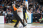 Real Madrid Facundo Campazzo and Fenerbahce Dogus Brad Wanamaker during Turkish Airlines Euroleague match between Real Madrid and Fenerbahce Dogus at Wizink Center in Madrid , Spain. March 02, 2018. (ALTERPHOTOS/Borja B.Hojas)