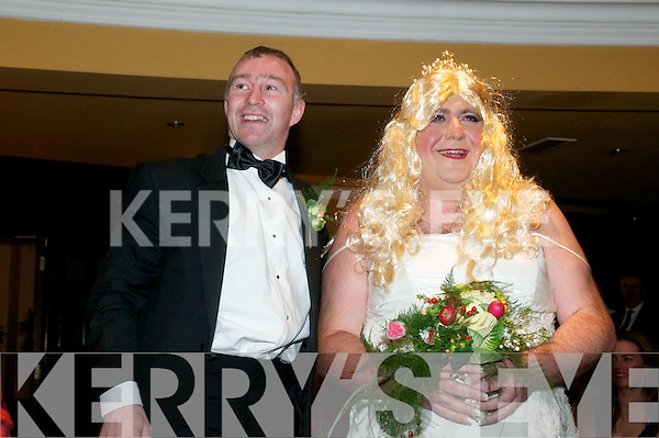 Finesse Bridalwear 10th Birthday Mock Wedding Party: Jockey David Casey meets his Mystery Bride Christy Walsh