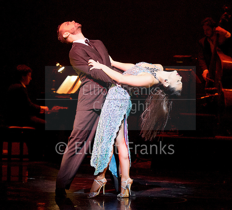 Tango Fire <br /> at The Peacock Theatre, London, Great Britain <br /> press photocall <br /> 30th January 2017 <br /> <br /> German Cornejo's Tango Fire<br /> <br /> <br /> <br /> <br /> <br /> Pata Ancha <br /> <br /> Mariano Balois &amp; Florencia Roldan <br /> <br /> <br /> <br /> <br /> <br /> Photograph by Elliott Franks <br /> Image licensed to Elliott Franks Photography Services